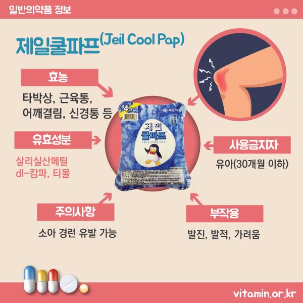 제일쿨파프(Jeil Cool Pap) 효능 및 부작용